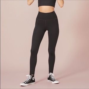 Girlfriend Collective Black High Rise Leggings XS